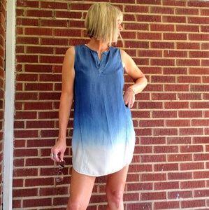Sleeveless ombre dress
